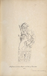 Sculpture from the Horse Mandapam at Vellore. 'Sculptures in the Great Pagoda in the Fort of Vellore 1803. Copied from a Drawing by Mr. Rowley